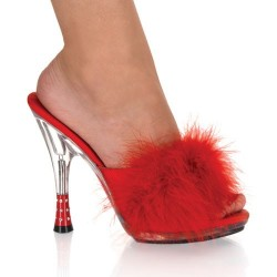 Mules Fabulicious GLITZY-501-8 Rouge