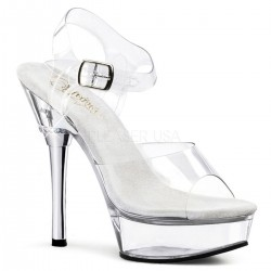 Sandales Plateformes Pleaser ALLURE-608 Transparent