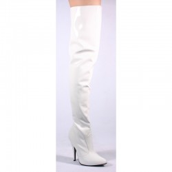 Cuissardes Talons Hauts Pleaser SEDUCE-3010 Blanc vernis