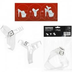 Brides de chevilles transparentes pour transformer des mules en sandales