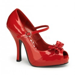 Escarpins Pin Up Couture CUTIEPIE-08 Rouge vernis