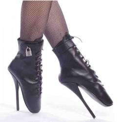 Ballets Devious BALLET-1025L Noir cuir