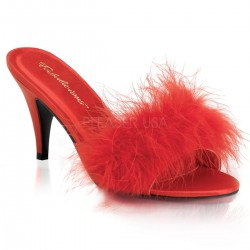 Mules Fabulicious AMOUR-03 Rouge Satin