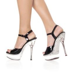 Sandales Plateformes Pleaser ALLURE-609 Transparent/Noir