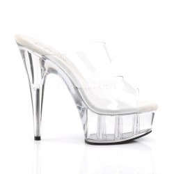Mules Plateformes Pleaser DELIGHT-602 Transparent