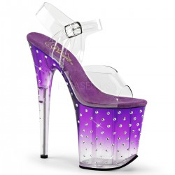 Sandales Plateformes Hautes Pleaser STARDUST-808T Violet