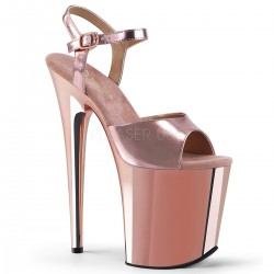 Sandales Plateformes Hautes Pleaser FLAMINGO-809 Or Rose